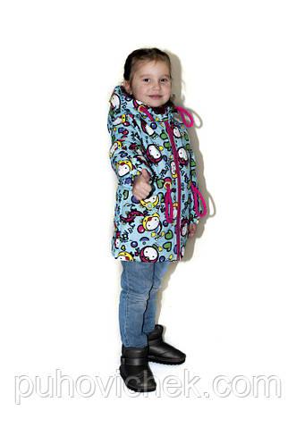 Детские курточки для маленьких девочек яркие