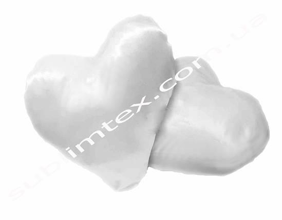 Подушка атласная, искусственный наполнитель, форма сердца, метод печати сублимация, размер А-4, фото 2