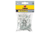 Заклепки алюмінієві 4.0ммx10мм, 50 шт/1 уп./TOPEX
