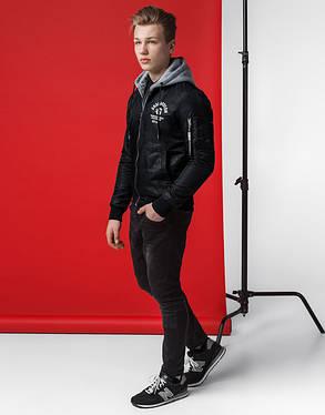Мужская куртка весна-осень 318 черный, фото 2