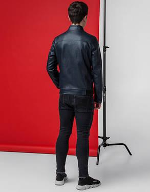 Мужская демисезонная куртка 3332 темно-синяя, фото 2