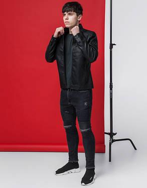 Куртка мужская весна-осень 3340 черная, фото 2