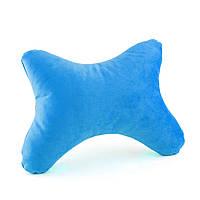 Дорожная подушка под голову BONE голубой флис_склад