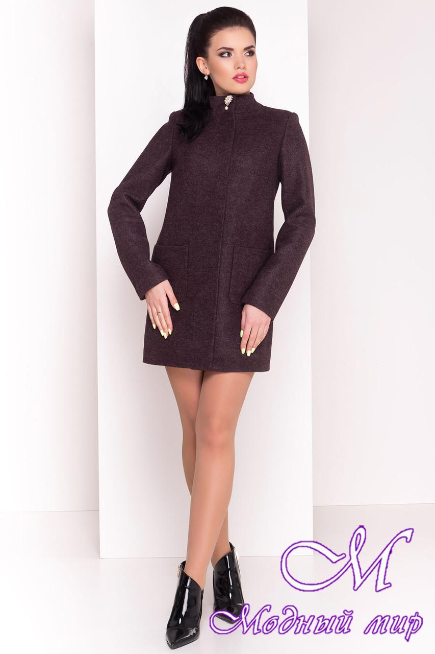 """Весеннее короткое кашемировое пальто (р. S, M, L) арт. """"Мелини 4378"""" - 21032"""