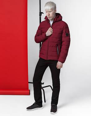Куртка весенне-осенняя мужская 4724 бордовая, фото 2