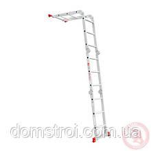 Лестница алюминиевая мультифункциональная трансформер 4x3 ступ., 3,50 м INTERTOOL