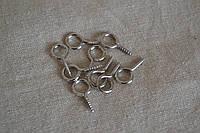 Вешак врезной серебро (набор 10 шт.)