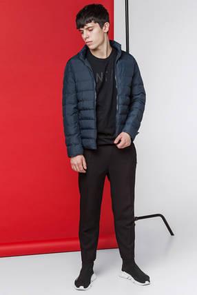 Мужская куртка весенне-осенняя 9952 темно-синяя, фото 2