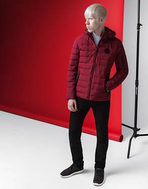 Весенне-осенняя куртка мужская 4628 бордовая, фото 2