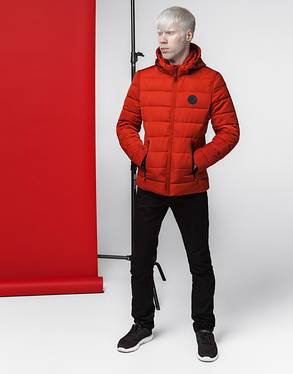 Мужская весенняя куртка 4726 оранжевая, фото 2