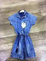 """Джинсовая платье-рубашка на девочку (8-12 лет) """"Konti"""" купить оптом со склада LM-785"""