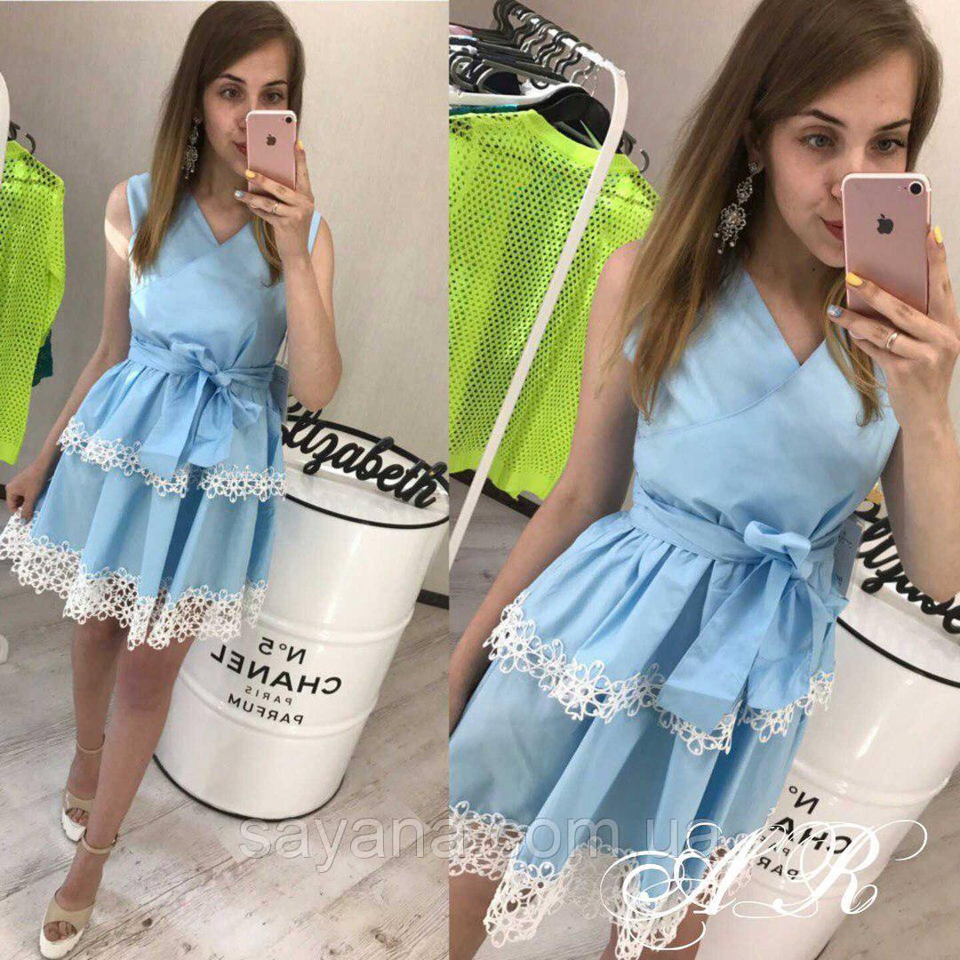 Женское красивое платье с кружевом, в расцветках. АР-63-0717