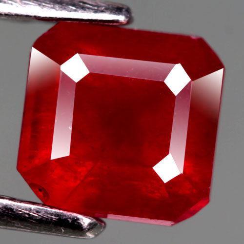 Рубин натуральный 1.63 Ct.   5,9 х 5,8 х 4,5 мм