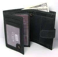 Кожаный мужской кошелек портмоне Польша натуральная кожа  N4L-MH U Black