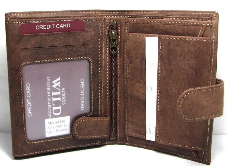 71a4616fcb0b Кожаный мужской кошелек портмоне Польша натуральная кожа N4L-MH U Brown -  Интернет-магазин