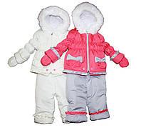 Комбинезон детский трансформер на меху для девочки. Снеговик, фото 1