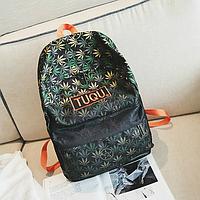 Крутой школьный рюкзак с коноплёй, фото 1