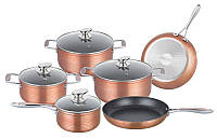 Набор кастрюль Royalty Line RL-FM10C Copper 10pcs