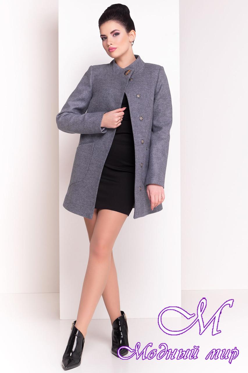 """Демисезонное кашемировое пальто серого цвета (р. S, M, L) арт. """"Мирта 4371"""" - 21036"""