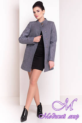 """Демисезонное кашемировое пальто серого цвета (р. S, M, L) арт. """"Мирта 4371"""" - 21036, фото 2"""
