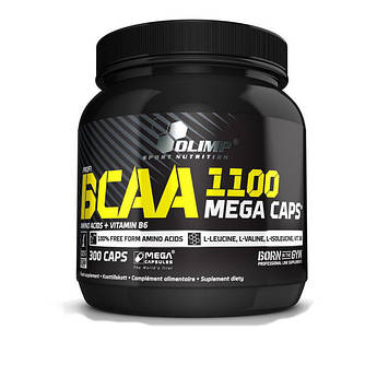 Аминокислоты BCAA Mega Caps 1100/ Мега Капс 300 капсул