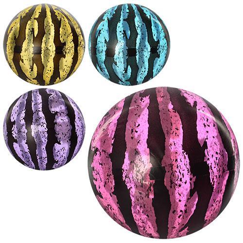 Мяч детский MS 0928  9 дюймов, арбуз, прозрачный, 75г, 4 цвета,