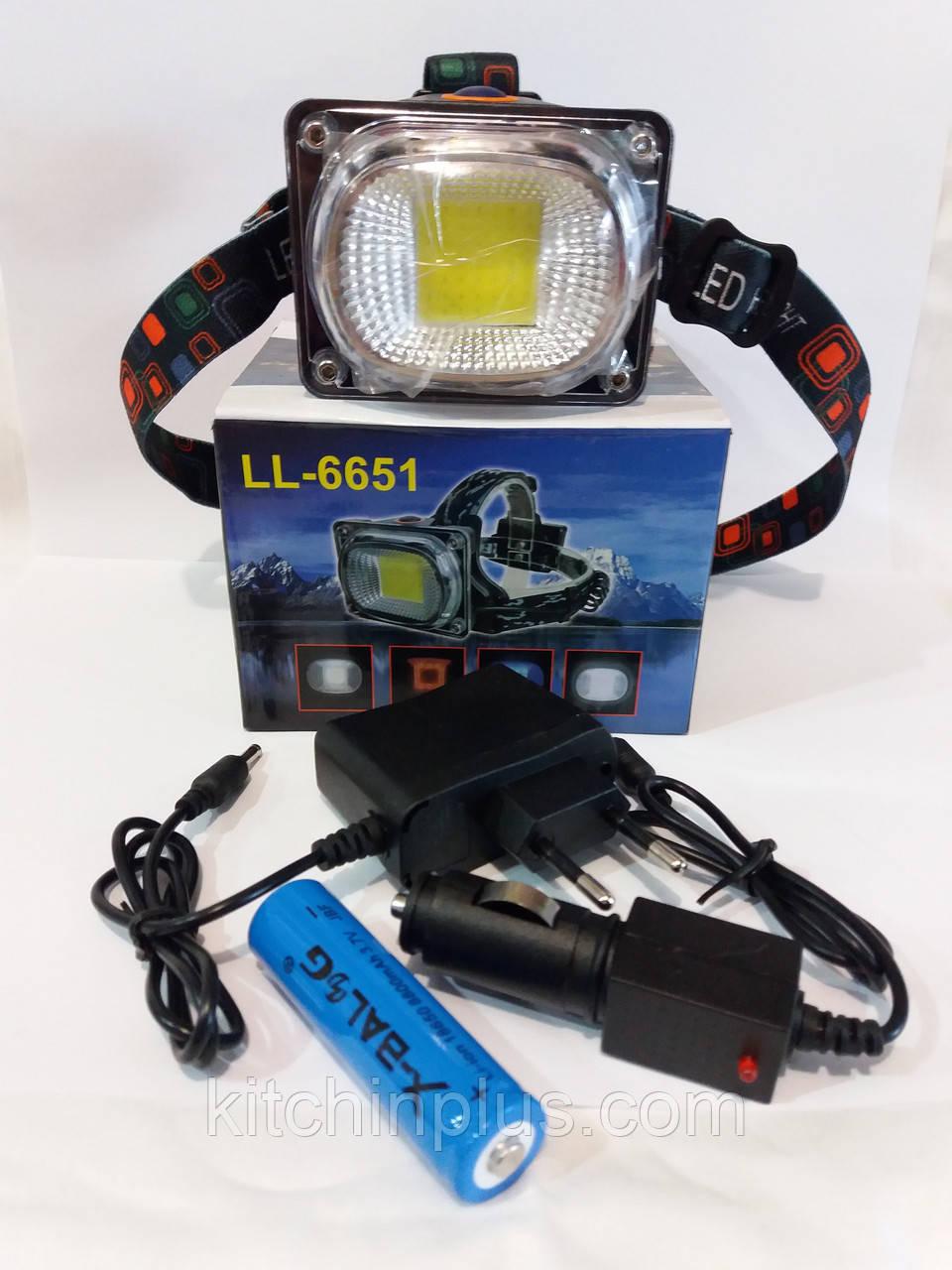 Фонарик налобный  LL-6631