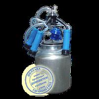Ведро доильное алюминиевое 20л в сборе с пластиковыми стаканами, фото 1
