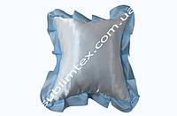 Подушка атласная,искусственный наполнитель,метод печати сублимация,размер 35х35см,цвет Рюши голубой