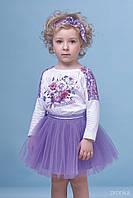 Комплект блузка спідниця Zironka 7005-3 бузковий