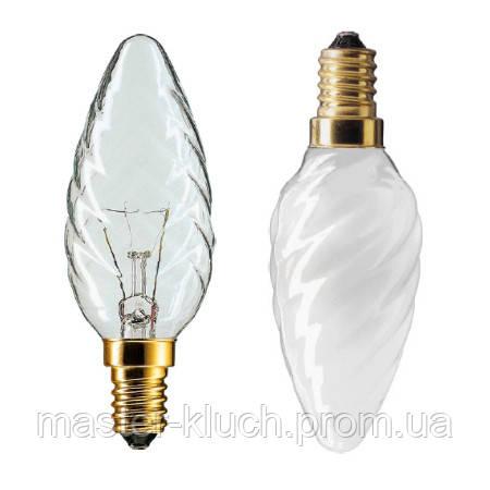 Лампа накаливания свеча витаяPhilips BW-35 E14