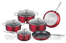 Набор кастрюль Royalty Line RL-FM10C Shiny Red 10pcs