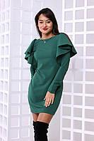 """Привлекательное женское платье """"Виолла"""" (костюмка люкс, длина мини, декор волан на пройме) РАЗНЫЕ ЦВЕТА!, фото 1"""