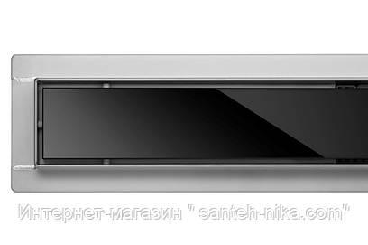 Линейный трап для душа Fala Poland BLACK GLASS  70 CM WET&DRY черное стекло (сухой и мокрый 2в1)