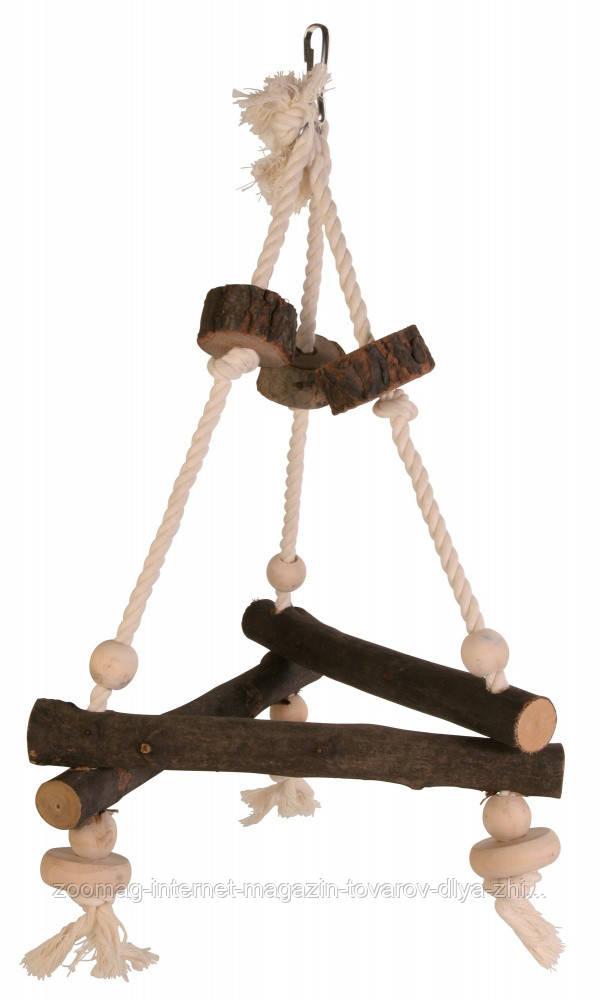"""Іграшка для папуги """"Гойдалки на мотузці"""" 27*27*27см, Trixie"""