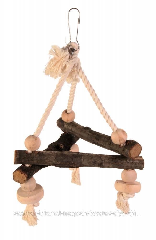"""Игрушка для попугая """"Качели на веревке"""" 16*16*16см, Trixie"""
