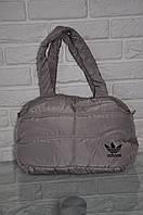 Спортивная сумка Adidas модель Пуховик. (бежевый+черный). Лучшие цены!!!