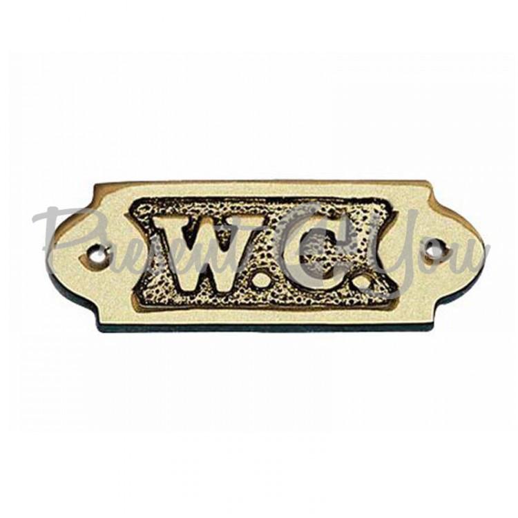 Морской сувенир табличка на двери «W.C» Sea Club, 8,5х3 см (7557.V)