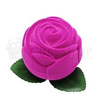"Футляр бархатный для кольца ""Роза большая"" розовый"