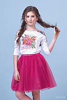 Комплект (блузка+спідниця): 7006-2