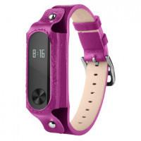 Ремешок для браслета Xiaomi Mi Band 2 (Genuine leather Purple)