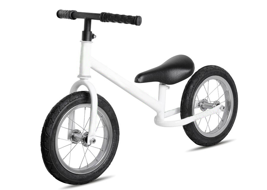 Беговел К-001 два колеса 12, колёса резина, обод метал. белый, кор., 8