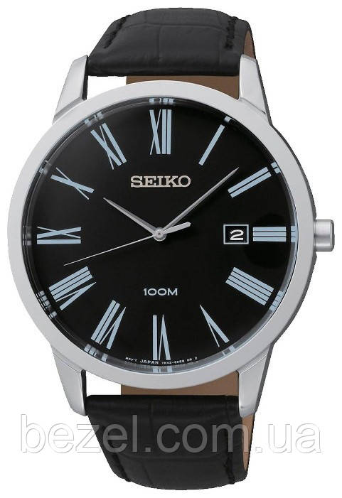 Мужские часы Seiko Stainless Steel Black Dial-SGEH13P1