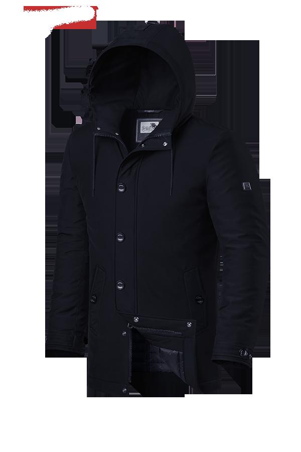 Мужская черная зимняя куртка Braggart (р. 48-56) арт. 4282 D