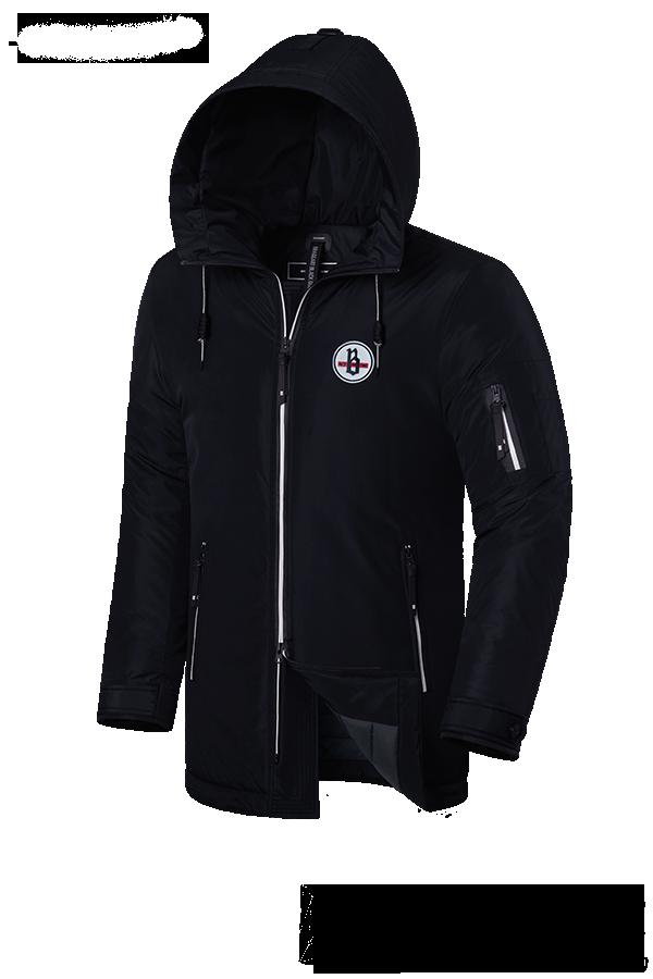 """Мужская черная зимняя куртка Braggart """"Black Diamond"""" (р. 46-56) арт. 9071 К"""
