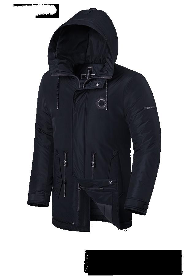 "Мужская черная зимняя куртка с капюшоном Braggart ""Black Diamond""  (р. 46-56) арт. 4862 F"