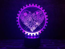 """3D Светильник """"Механическое сердце"""""""
