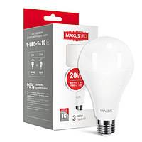 Лампа LED MAXUS 1-LED-5610 A80 20W 4100K 220V E27