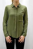Женская свободная рубашка цвета хаки