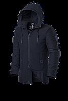 Мужская зимняя куртка с капюшоном Braggart Black Diamond  (р. 46-56) арт. 4052 D